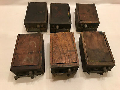 Antique 1900's Ford Model T Model A Wood Box Battery Ignition Coil Unit set of 6