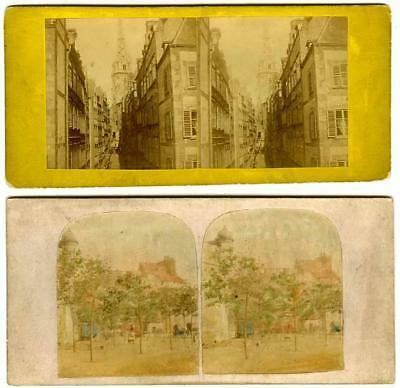 France: Brittany, 2 views of St Malo, Quay & general view of town. 1 tinted