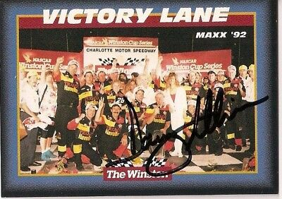 Davey Allison THE WINSTON VICTORY @ HOSPITAL 1992 MAXX TEXACO #28 signed card