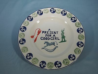 Emma Bridgewater Pottery PRESENT FOR A GOOD GIRL Plate Hand Painted England
