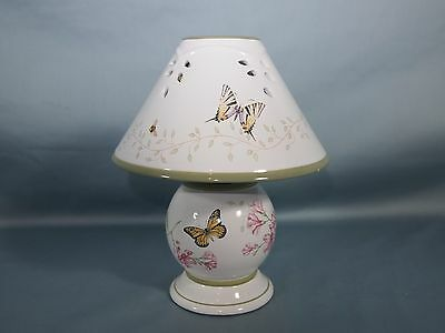 Lenox China Tea Lamp with Shade Butterfly Meadow