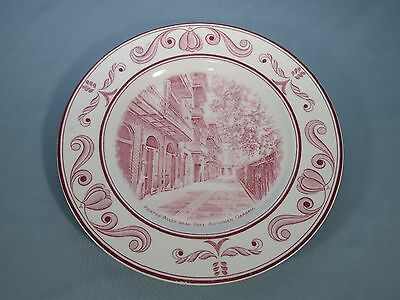 Crown Ducal Scenes Of Old New Orleans Mulberry Pirates Alley Dinner Plate