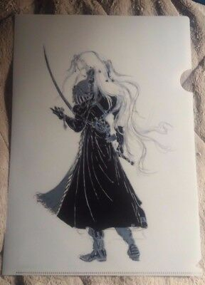 Final Fantasy VII Sephiroth Clearfile Illustration by Yoshitaka Amano BRAND NEW