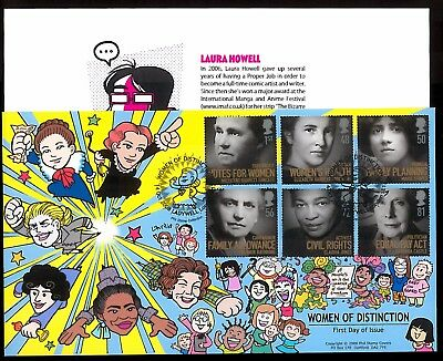 Rare Illustrated Phil Stamp Cover - Women Of Distinction_Limited Edition #42/60