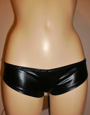Stunning Pvc / Leather Look Thongs New  Size   6 / 8 Go Go Dancer  Style
