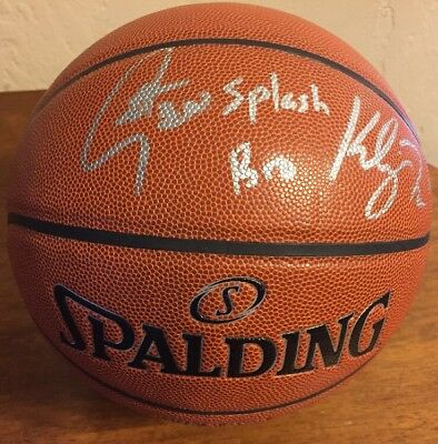 Stephen Curry Klay Thompson Signed Auto Basketball Golden State Warriors No COA