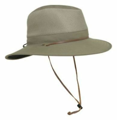 New Solar Escape Outback Men's UV Protection UPF 50+ Hat Khaki Adjustable