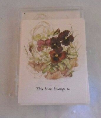 Self Adhesive Bookplates - Pansy Flower - Pansy's - Marilyan Roberts - England