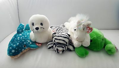 TY beanie baby buddy retired bulk lot - Legs Mystic Poseidon White Tiger Seal