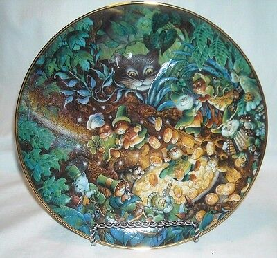 Bill Bell Cat Plate St. Catrick's Day - Franklin Mint  ( Cat St Patrick's Day  )