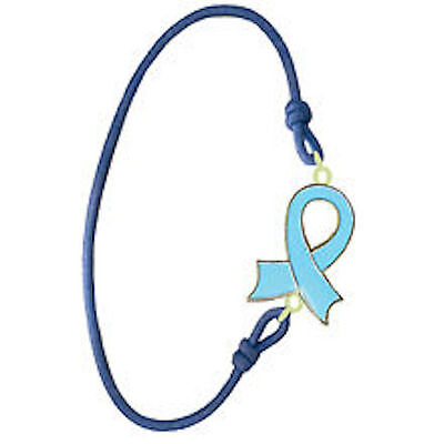 Cancer  Wrist band BLUE Ribbon Charity Bracelet