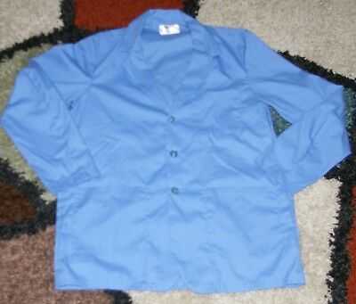 "Best Medical Woman L/S Staff Lab Coat 3 pocket Med Blue 30"" Length Size M/L (38)"
