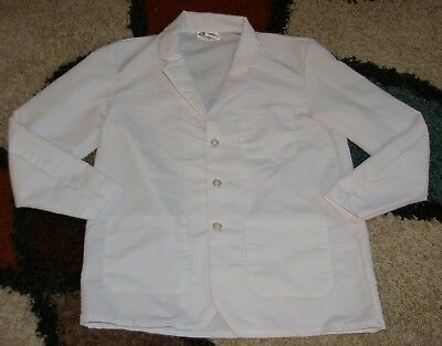 "Best Medical Woman L/S Staff Lab Coat 3 pocket White 30"" Length Sz L/XL (42)"