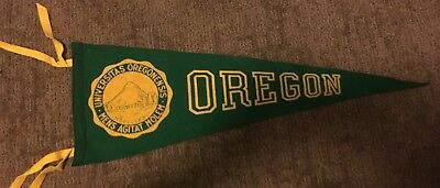 "1940's-50's Original Vintage Felt OREGON Pennant Extremely Rare 9""x24"" Must See"