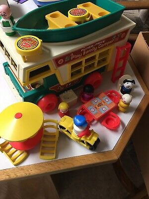 Fisher Price Play Family Camper 22 Pieces Vintage