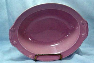 Taylor Smith And Taylor (TST) Lu-Ray Pastels Pink #5531 Oval Vegetable Bowl 10""