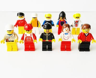 Lego bulk lot minifigs x 10 minifigures - assorted mixed themes - used