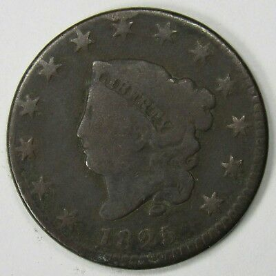 1825 Coronet Head Large Cent Good Date Type Coin
