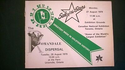 Romandale Farms & Sale Of Stars 1979 Holstein Sales Pedigree Book Canada