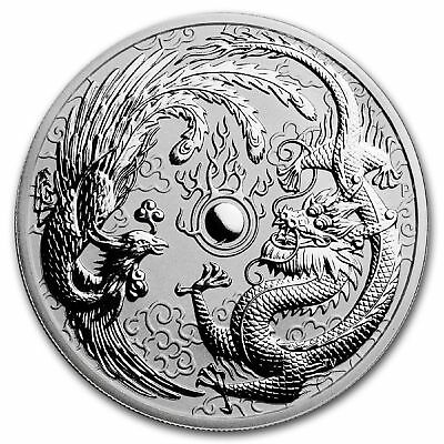 2017 Perth Mint 1oz Silver Dragon and Phoenix Bullion Coin 99.99 Silver Bullion