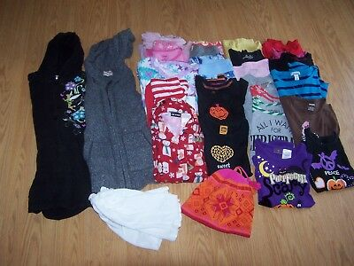Girls Used Halloween/Fall/ Winter BTS Clothes Size 7/8 Lot of 41 Items