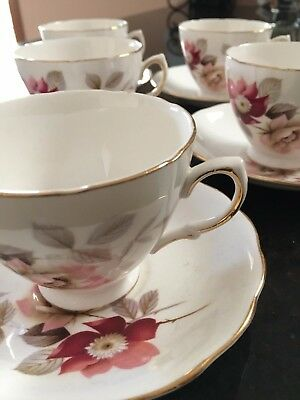 Royal Vale 6 x Duo's High Tea Set  Ridgway Potteries Ltd Tea Cups and Saucers