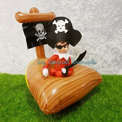 Elf on The Shelf Compatible Prop Costume Pirate Outfit & Pirate Ship