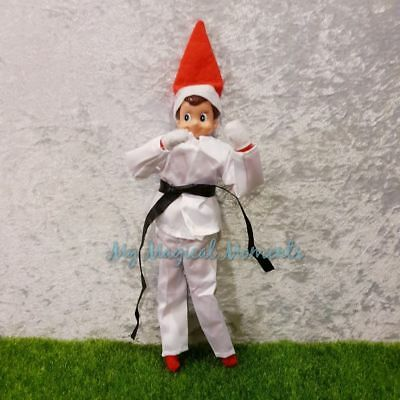 Elf on The Shelf Compatible Prop Costume Karate Outfit
