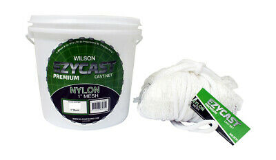 Wilson EZYCAST Nylon Cast Net with 1 Inch Mesh Size and Bottom Pocket