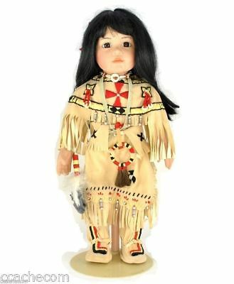 Signed Buffalo Child Porcelain Doll by Carol Theroux Artists Limited Edition NIB