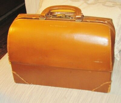 Vintage Emdee By Schell Leather Doctor Bag