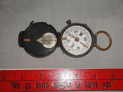 Wwi Us Engineers Corps Brass Field Compass - Cruchon & Emons Berne, Works Fine