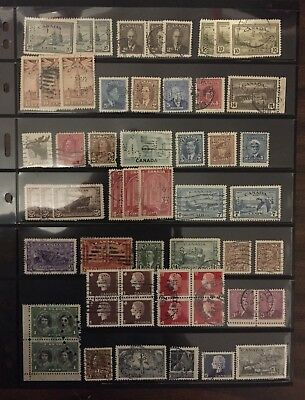Canadian Stamp Perfin Selection