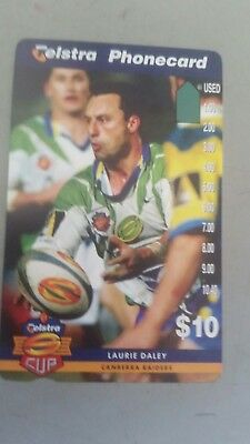 $ 10 1hole phonecard Laurie Daley prefix 1507