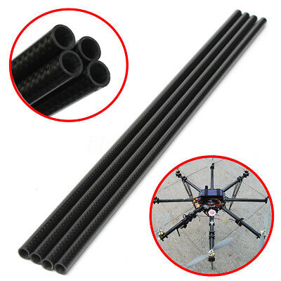 1Pc Roll Wrapped Carbon Fiber Tube 3K 8mm x 10mm X 500mm Multicopter DIY New