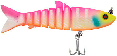 """Zerek Live Mullet 3.5"""" Col FAB 18g Soft Body Jointed Swimbait Fishing Lure"""