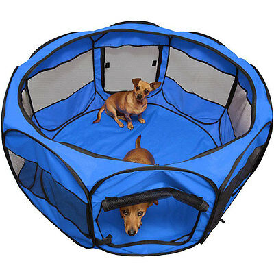 """Oxford 45"""" Pet Dog Playpen Exercise Cage Cat Tent Portable Crate Fence Kennel"""