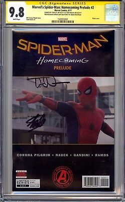 Spider-Man Homecoming Prelude #2 Cgc Ss 9.8 Signed By Stan Lee & Todd Nauck!!