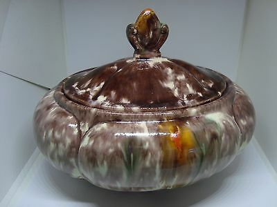 Beautiful JASBA Pottery GERMAN GLAZED Dish With Lid. A Must See!