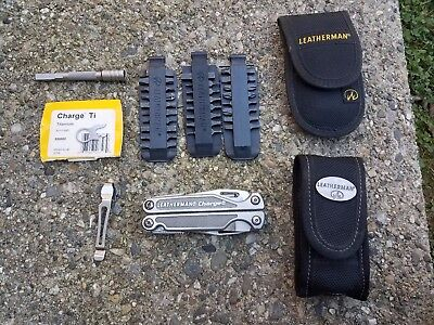 Leatherman Charge Ti With Extra Bit Set Extended Driver Nylon Sheath 830003