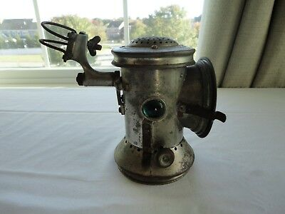 "Rare Antique Unusual ""ATWOOD LIGHT"" Bicycle Bike Lantern Lamp with Bracket"
