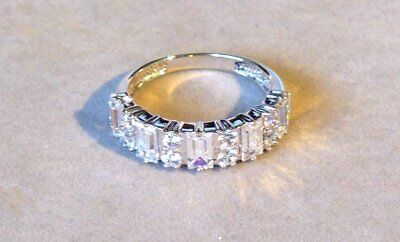 """Estate Fancy 14K White Gold """"diamond"""" Cluster Cocktail Ring Size 7 1/4 - New Old"""