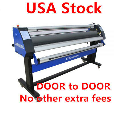 "110V 67"" Economical Full-auto Single-Side Heat-Assist Wide Format Cold Laminator"