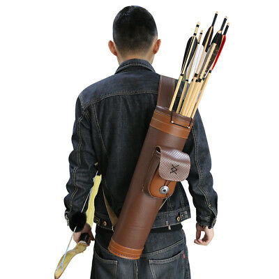 Archery Arrow Quiver Outdoor Hunting Real Cow Leather Portable Arrow Holder Bag