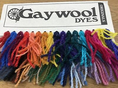 Dye for wool mohair alpaca angora silk fur feathers -Gaywool brand  100g packs -
