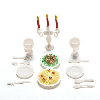 13 Pcs Play House Toys for Children Kids Candlelight Dinner Props  Barbies Fad.