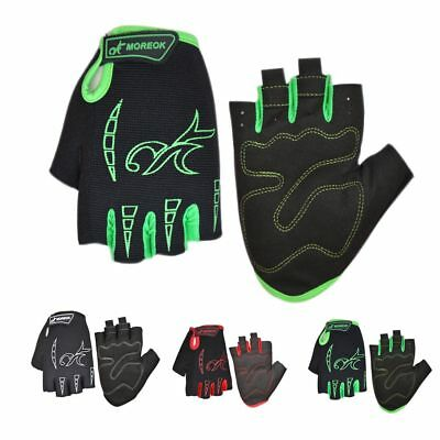 MK034 Silica Gel,Shockproof Bicycle Half Finger Riding Gloves One Pair