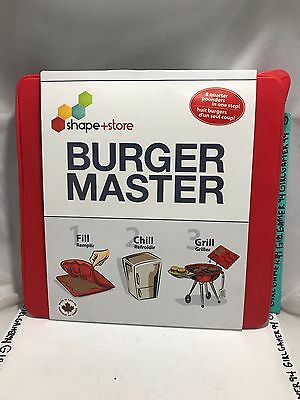 Shape + Store Burger Master 8 in 1 Innovative Burger Press and Freezer Container