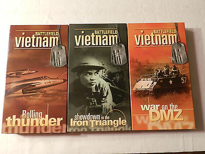 Battlefield Vietnam 3 VHS Video Tapes Time Life  Vietnam War