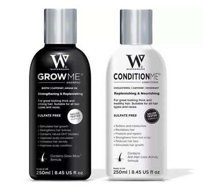 Hair Growth Watermans Grow Me Shampoo & Conditioner 250ml Set For Sale